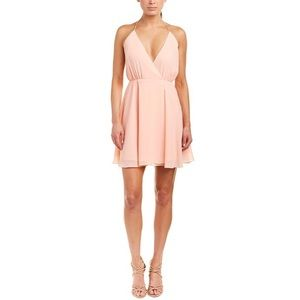 Haute Hippie Harmony Wrap Baby Pink Dress